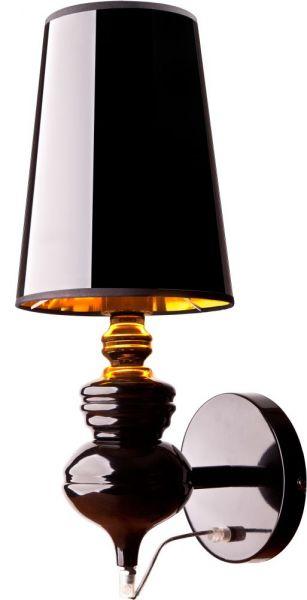 Lampy oświetlenie Nowodvorski - ALASKA black kinkiet 5754